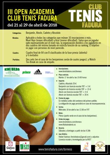 III Open Academia Club de Tenis Fadura